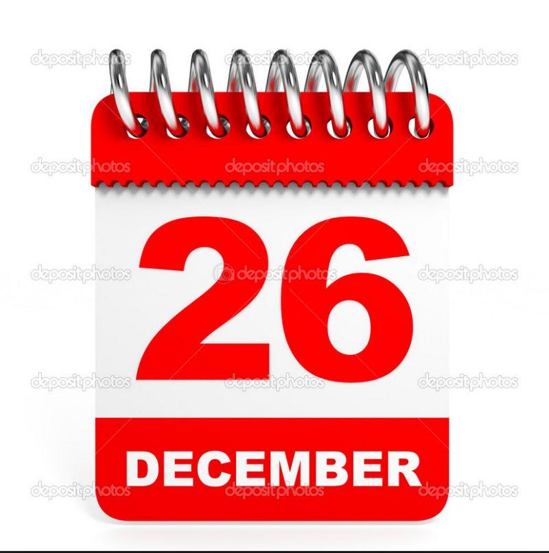 26 december geen training