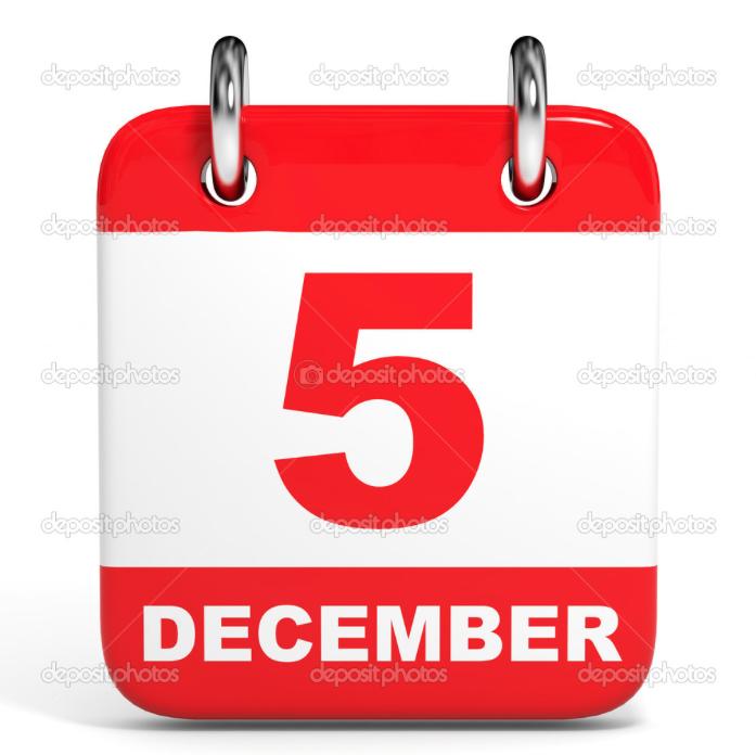 Training maandag 5 december