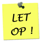 Let Op in Reeshofpark
